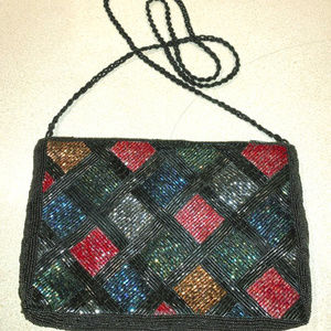 Glittering evening purse